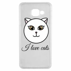 Чохол для Samsung A3 2016 I love cats art