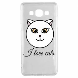 Чохол для Samsung A5 2015 I love cats art