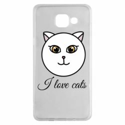 Чохол для Samsung A5 2016 I love cats art