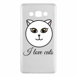 Чохол для Samsung A7 2015 I love cats art