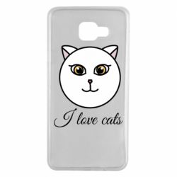 Чохол для Samsung A7 2016 I love cats art