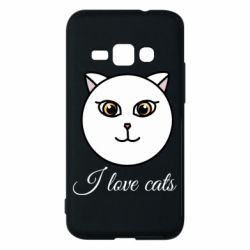 Чохол для Samsung J1 2016 I love cats art