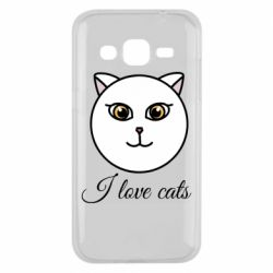 Чохол для Samsung J2 2015 I love cats art
