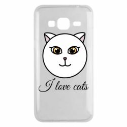 Чохол для Samsung J3 2016 I love cats art