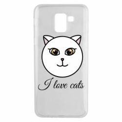 Чохол для Samsung J6 I love cats art