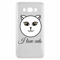 Чохол для Samsung J7 2016 I love cats art