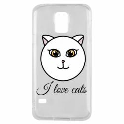 Чохол для Samsung S5 I love cats art