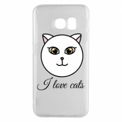Чохол для Samsung S6 EDGE I love cats art