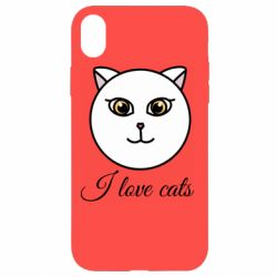 Чохол для iPhone XR I love cats art