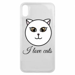 Чохол для iPhone Xs Max I love cats art