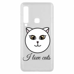 Чохол для Samsung A9 2018 I love cats art