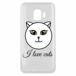 Чохол для Samsung J2 Core I love cats art