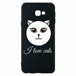 Чохол для Samsung J4 Plus 2018 I love cats art