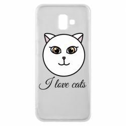 Чохол для Samsung J6 Plus 2018 I love cats art