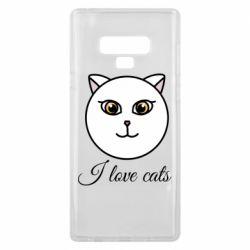 Чохол для Samsung Note 9 I love cats art