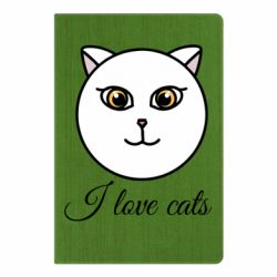 Блокнот А5 I love cats art