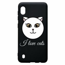 Чохол для Samsung A10 I love cats art