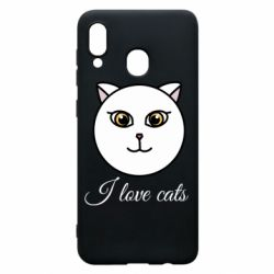 Чохол для Samsung A20 I love cats art