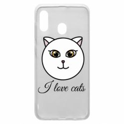 Чохол для Samsung A30 I love cats art