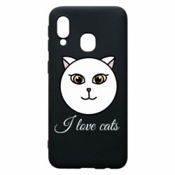 Чохол для Samsung A40 I love cats art