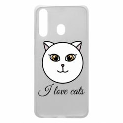 Чохол для Samsung A60 I love cats art