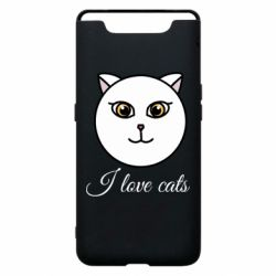 Чохол для Samsung A80 I love cats art