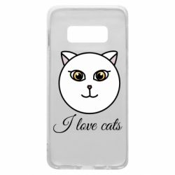 Чохол для Samsung S10e I love cats art