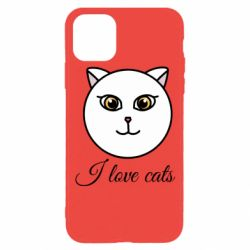 Чохол для iPhone 11 Pro I love cats art