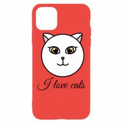 Чохол для iPhone 11 Pro Max I love cats art