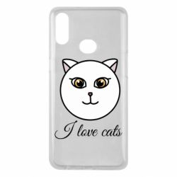 Чохол для Samsung A10s I love cats art