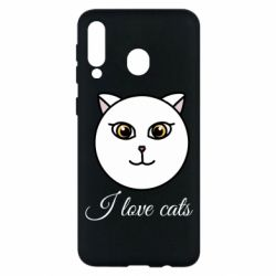 Чохол для Samsung M30 I love cats art