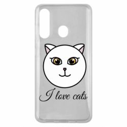 Чохол для Samsung M40 I love cats art