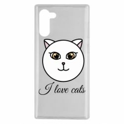 Чохол для Samsung Note 10 I love cats art