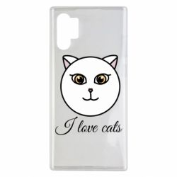 Чохол для Samsung Note 10 Plus I love cats art