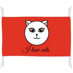 Прапор I love cats art