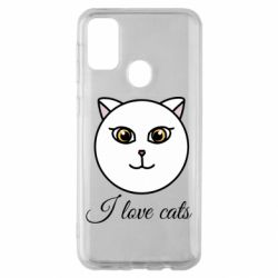 Чохол для Samsung M30s I love cats art
