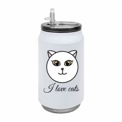 Термобанка 350ml I love cats art