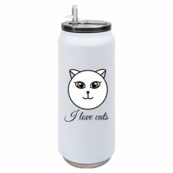 Термобанка 500ml I love cats art