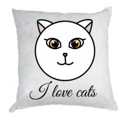 Подушка I love cats art