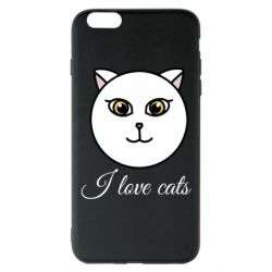 Чохол для iPhone 6 Plus/6S Plus I love cats art