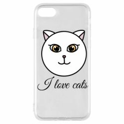 Чохол для iPhone 7 I love cats art