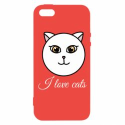 Чохол для iphone 5/5S/SE I love cats art