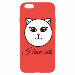 Чохол для iPhone 6/6S I love cats art