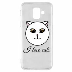 Чохол для Samsung A6 2018 I love cats art