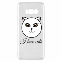 Чохол для Samsung S8 I love cats art