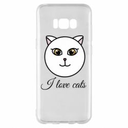 Чохол для Samsung S8+ I love cats art