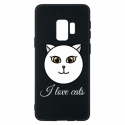 Чохол для Samsung S9 I love cats art