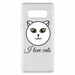 Чохол для Samsung Note 8 I love cats art