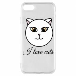 Чохол для iPhone 8 I love cats art