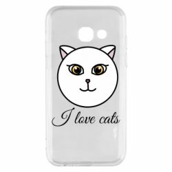 Чохол для Samsung A3 2017 I love cats art